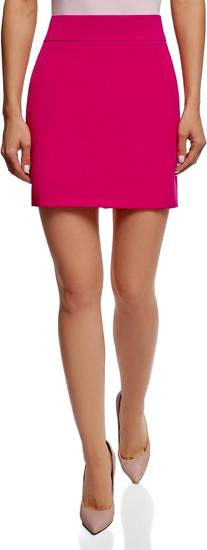 oodji Ultra Mujer Falda Corta Básica