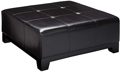 Christopher Knight Home Avalon Espresso Brown Leather Ottoman Coffee Table