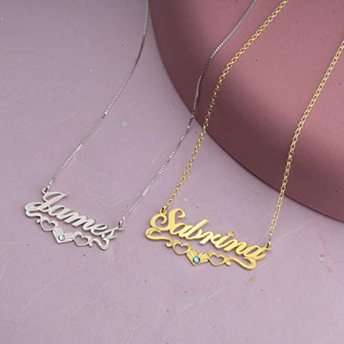 Personalized Gift Gift for Her Dainty Necklace Silver Gold Rose Gold Necklace Mothers Day Gift Birthstone Name Necklace