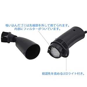 Best Choose USBミニクリーナー 卓上ブラシ USB給電 ハンディ掃除機 LEDライト付き YBC-01