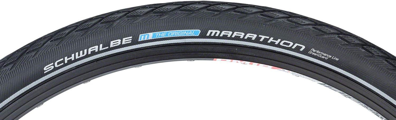 2 x Schwalbe 700 x 25c Marathon Greenguard Tyres With Reflective Strips