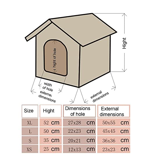 LOVE PET - Caseta de Tela Plegable/ Cuna Perro/ Habitación Portátil/ Nido Mascota para Perros, Gatos con forma de casa (motivo emoticonos, XL): Amazon.es: ...