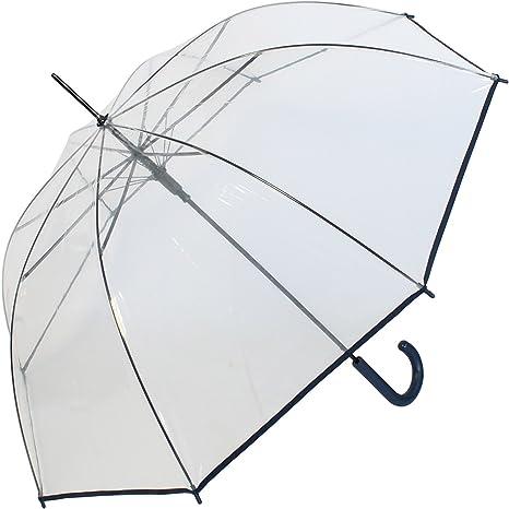Paraguas transparente transparente automático transparente Griff navy ...