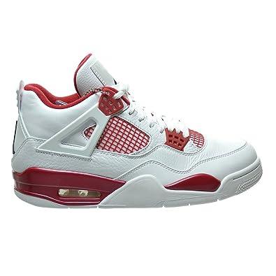 brand new dac45 ed23b Air 4 Retro Mens Alternate 89 White Black Gym Red Basketball Shoes For Men