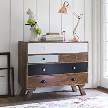 JAIPURWOOD Solid Wood Chest of Drawers Natural Finish