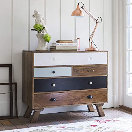 THEHOMEDEKOR LAMINO Solid Wood Chest of Drawers Natural Finish