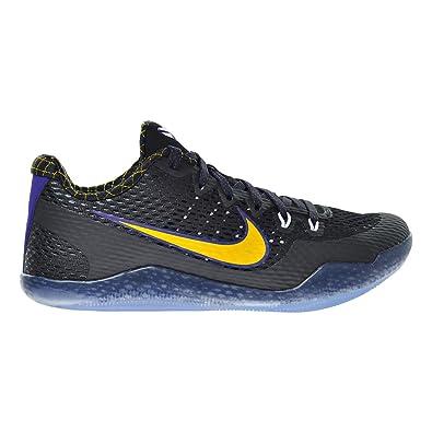Nike Men\u0027s KOBE XI, BLACK/ WHITE PURPLE-UNIVERSITY GOLD, ...