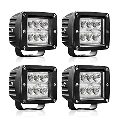 "AUTOSAVER88 4PACK LED Pods 4"" 32W, 3200LM Flood Off Road Fog Work Lights Super Bright Waterproof for Motorcycle Trucks ATV Boats: Automotive"