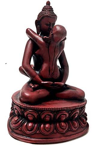 Bellaa 29639 Buddha Statue Yab Yum Shakti Embrace Tantra 6 inch