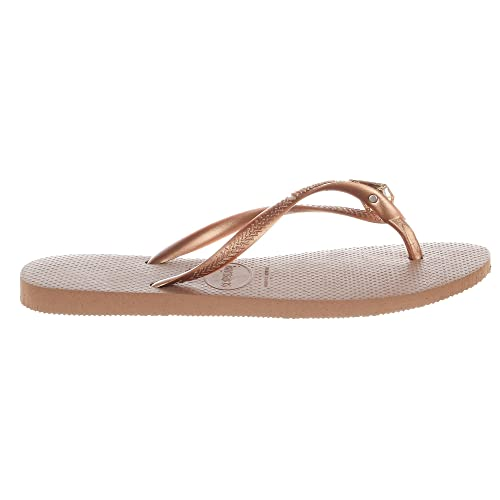 74252fb84e6 Image Unavailable. Image not available for. Color  Havaianas Women Sandals  Flip-Flop Rose Gold ...