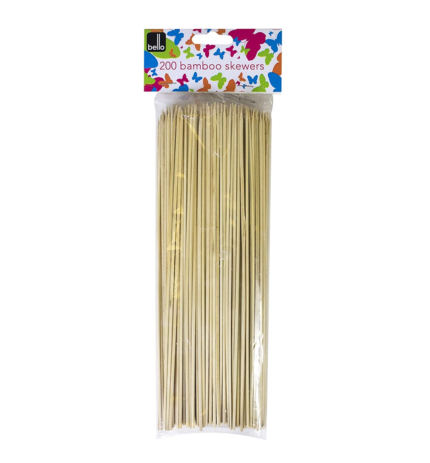 200 BBQ BAMBOO SKEWERS FOR KEBABS FRUITS CHOCLATE WOODEN BBQ STICKS 10 INCH ALANNAHS ACCESSORIES