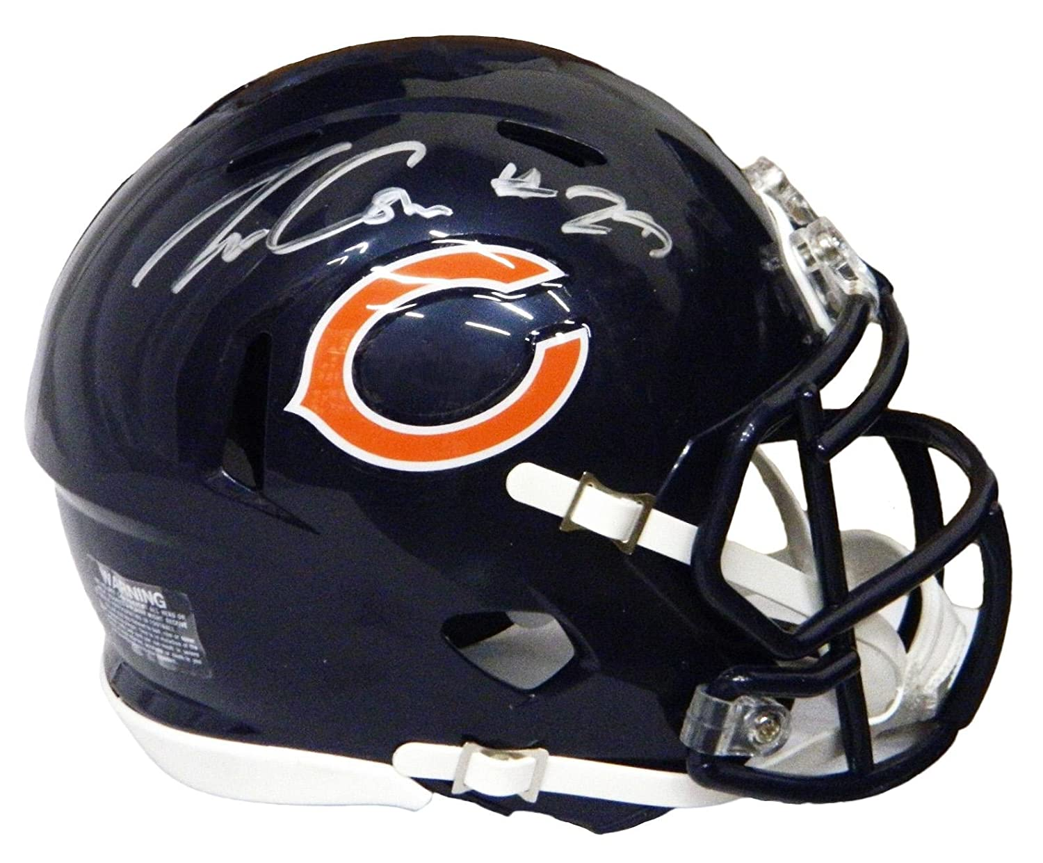 3e234ed54 Amazon.com  Tarik Cohen Autographed Helmet - Riddell Speed Mini -  Autographed NFL Mini Helmets  Sports Collectibles