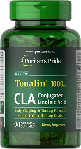 Puritan s Pride CLA 1000 mg Tonalin-90 Softgels
