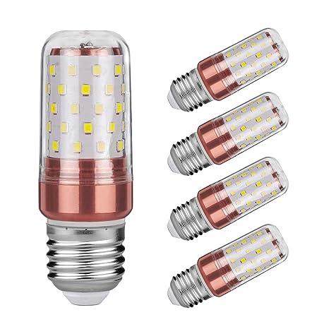azanaz bombillas de LED Star E27 12 W, LED maíz bombilla Edison Blanco cálido No