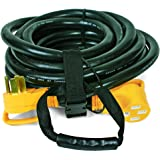 Camco 30' PowerGrip Heavy-Duty Outdoor 50-Amp Extension Cord for RV and Auto | Allows for Additional Length to Reach…
