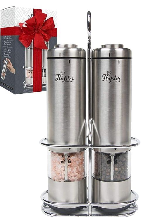 Amazon.com: Flafster Kitchen - Molinillo de sal y pimienta ...