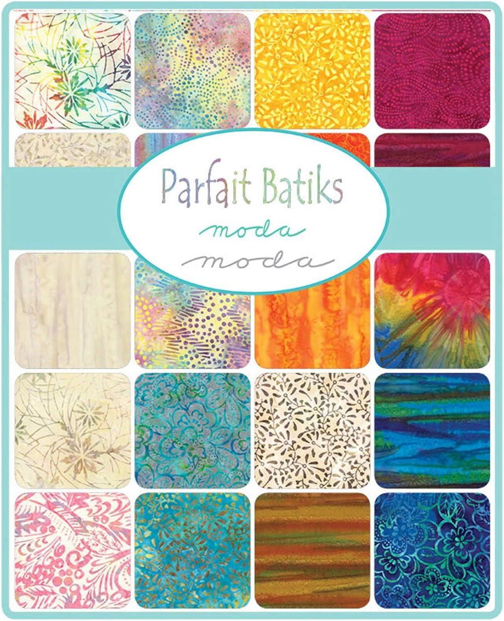 MODA Parfait Batiks Charm Pack Classics; 42-5 inch Precut Fabric Quilt Squares