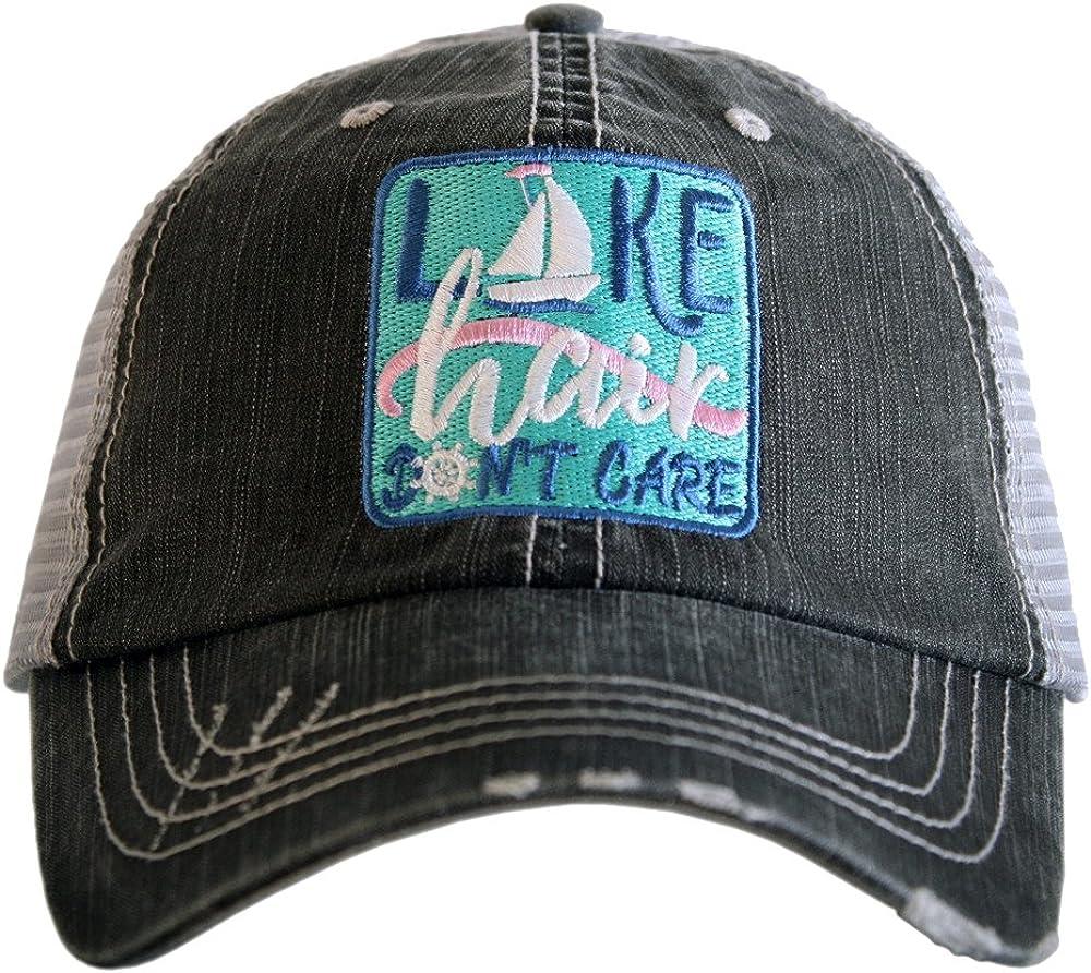 Katydid Lake Hair Don't Care Sailboat Trucker Hat