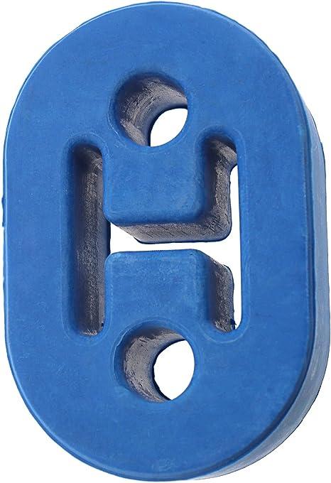 Universelle Blaue 2 Loch Auspuff Gummi Halterung Aufhänger Robuste Buchsenstütze Küche Haushalt