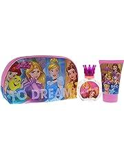 Disney princess for kids - 3 piece gift set 1.7oz edt spray, 3.4oz shower gel, toiletry bag