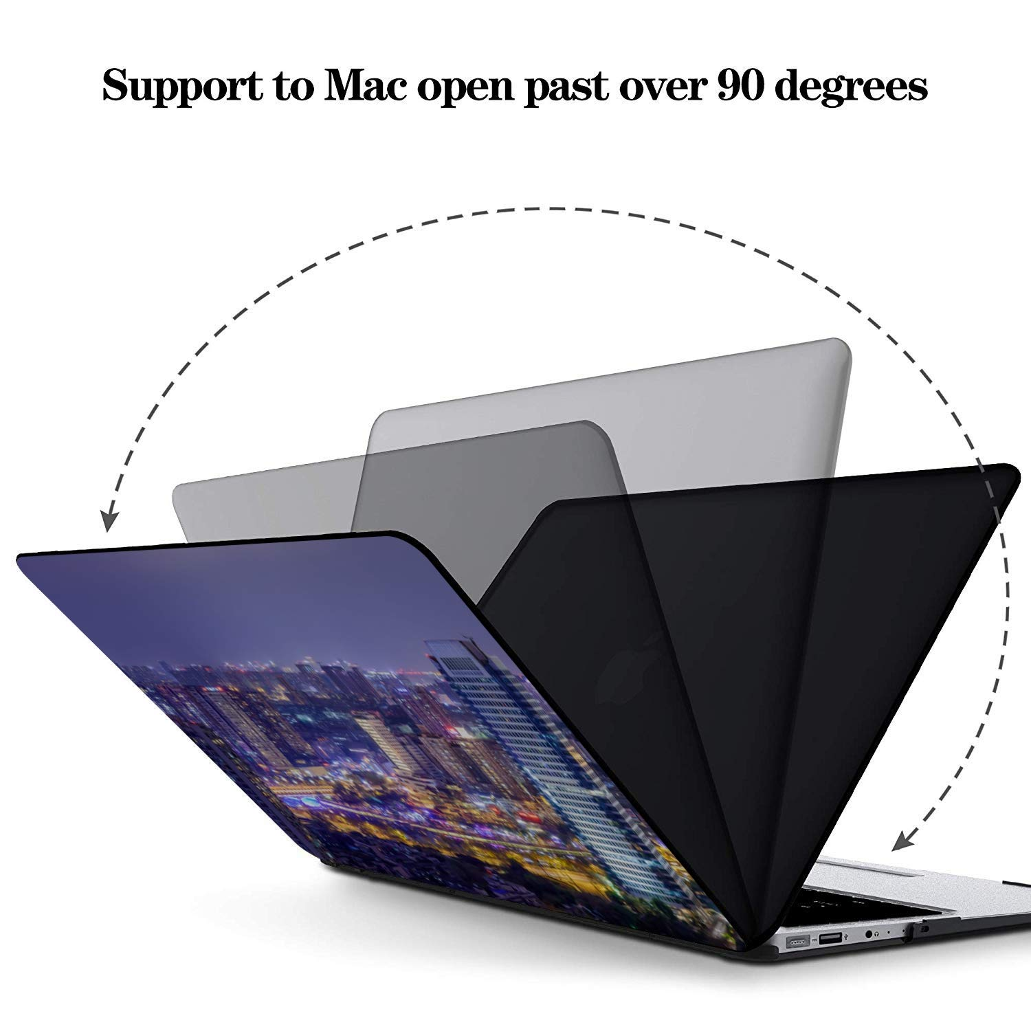 Cover MacBook Air Shining Quiet Beautiful City Night View Plastic Hard Shell Compatible Mac Air 11 Pro 13 15 MacBook Protective Case Protection for MacBook 2016-2019 Version