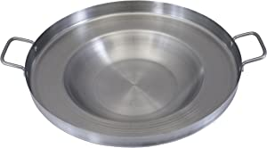 CONCORD Stainless Steel Comal Frying Bowl Cookware (22