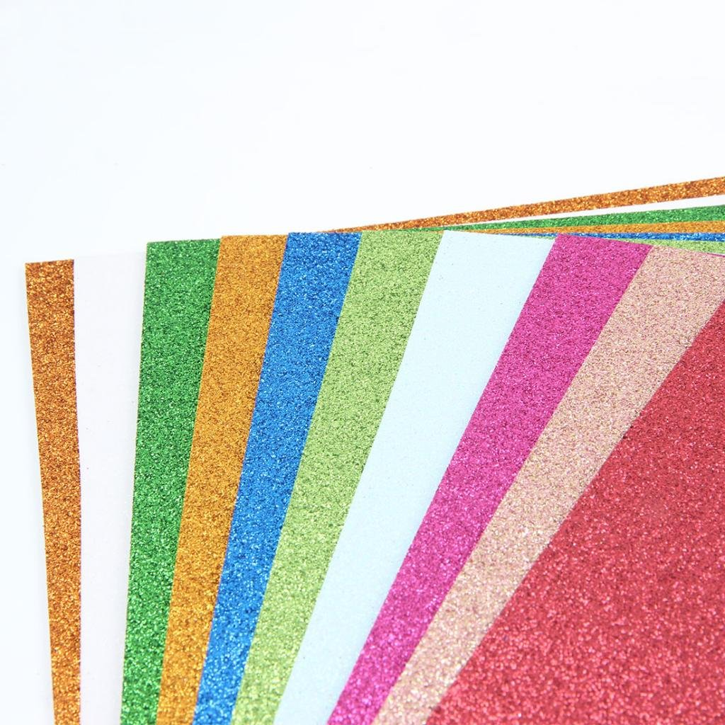 5eb23339c3b9 Fityle Glitter Sponge Papers EVA Foam Papers Sheets Kindergarten DIY Craft  Paper