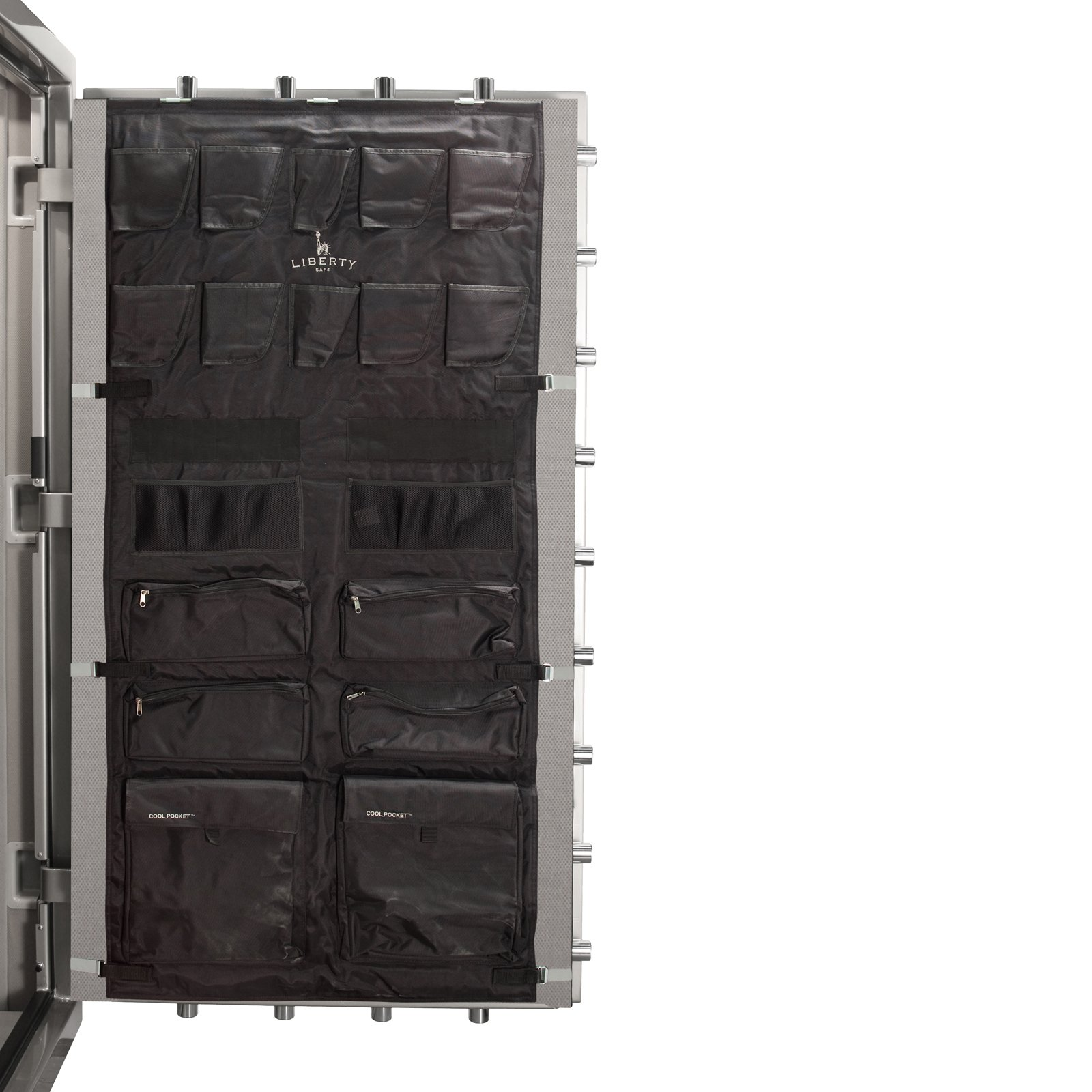 Liberty Door Panel - Fits Gun Safe Models 48-64 - Accessory and Organizer for Pistols, Handguns, Ammunition, Magazines, Choke Tubes and Other Security Products - Item 10587 - Black by Liberty Safes