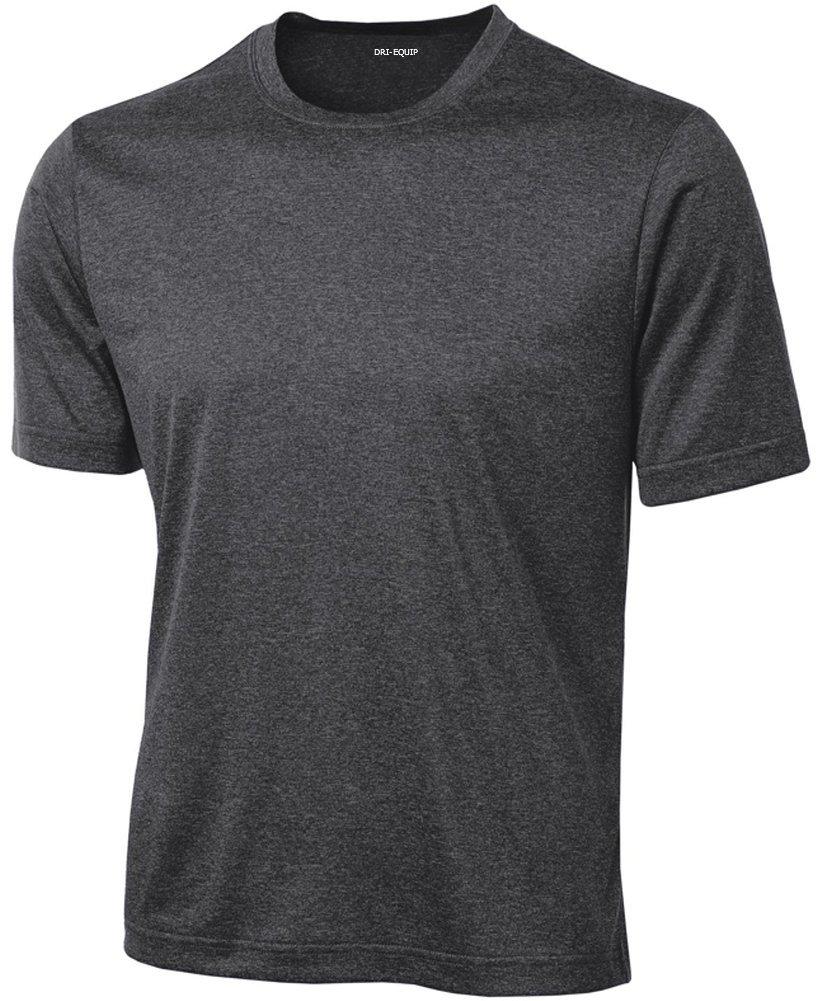 DRIEQUIP Men's Short Sleeve Moisture Wicking T-Shirt-GraphiteHeather-S by DRIEQUIP