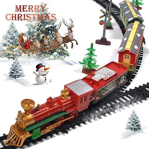 Ensemble de rails de train, train de jouets électriques pour sapin