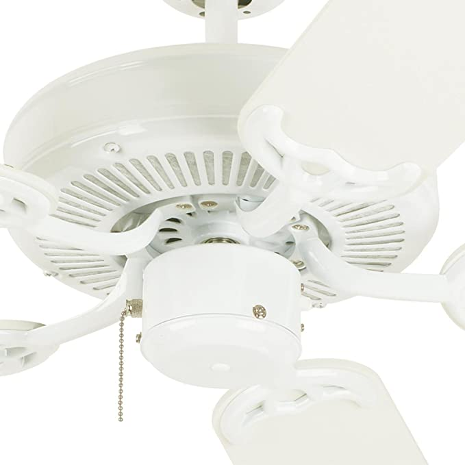Westinghouse 7802400 Contractoru0027s Choice 52-Inch Five-Blade Indoor Ceiling Fan White with White Blades - Ceiling Fans Without Lights - Amazon.com  sc 1 st  Amazon.com & Westinghouse 7802400 Contractoru0027s Choice 52-Inch Five-Blade Indoor ...