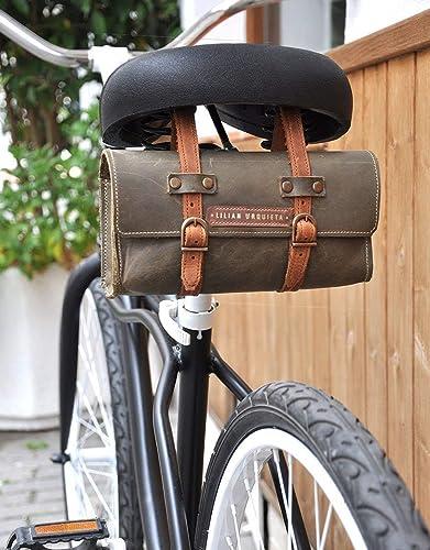Alforja CYCLING, Alforjas en Piel de Bicicleta, Alforja de Cuero Retro, Alforja para Bicileta: Amazon.es: Handmade