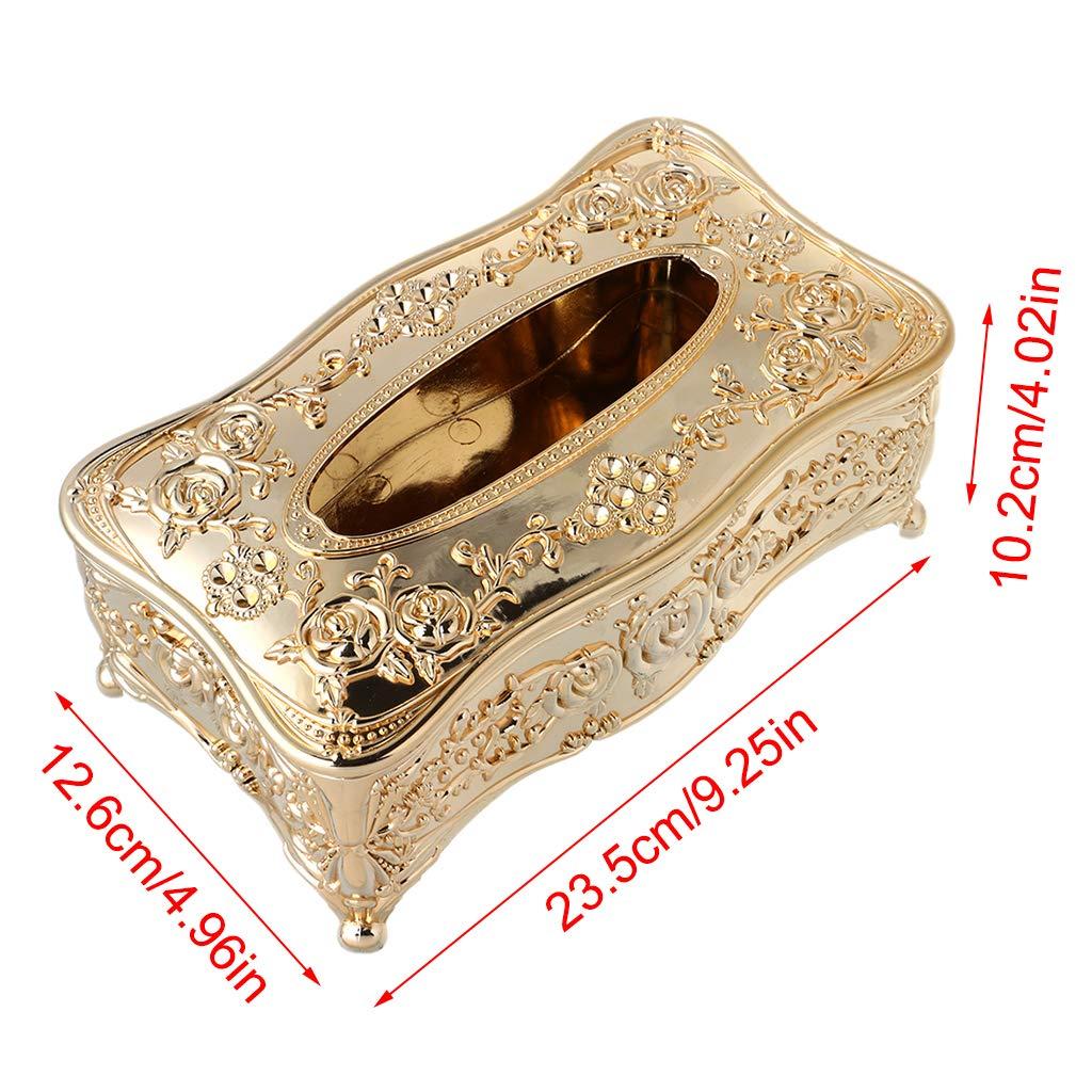 porta fazzoletti rettangolari di lusso in stile europeo in acrilico portarotolo KTV Silver Yuaierchen