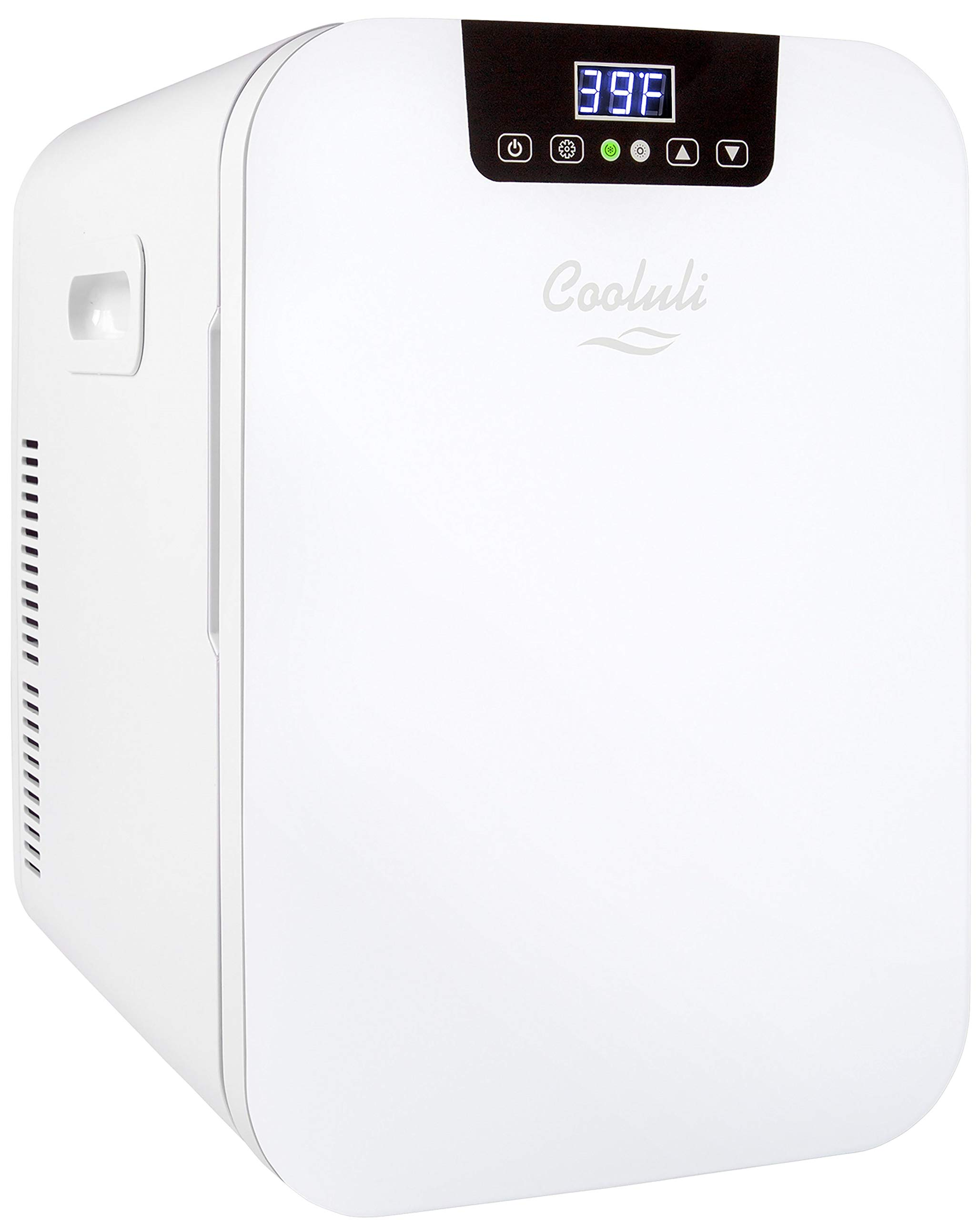 Cooluli Concord 20-liter Compact Cooler/Warmer Mini Fridge/Wine Cooler with Digital Thermostat + Dual-Core Cooling for Cars, Road Trips, Homes, Offices & Dorms by Cooluli