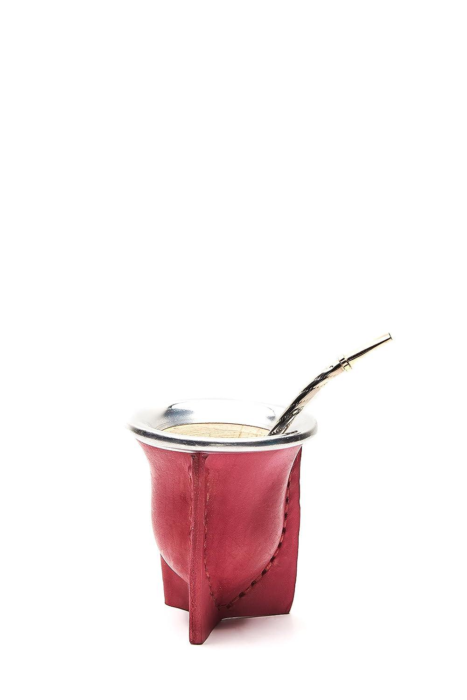 Balibetov [Nuevo] mate Argentino - set de mate de calabaza natural hecho a mano - mate de calabaza forrado en cuero vaqueta - con bombilla (sorbete) para ...