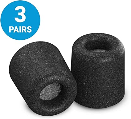 Earbud Replacement Tips for Creative Aurvana 3 In-Ear Noise-Isolating Foam