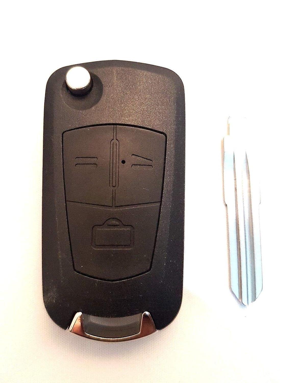 Funda plegable con 3 botones para llave de Vauxhall, Opel ...