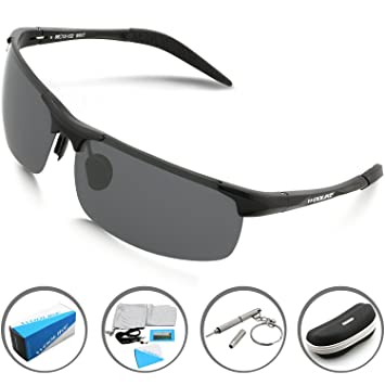 sunglasses for glasses kfjb  Woolike Men's Sports Style Polarized Sunglasses For Cycling Running Fishing  Driving Golf Unbreakable Al-Mg
