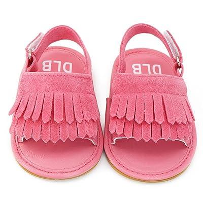 Voberry® Unisex Baby Tassel Rubber Sole Non-slip Summer Sandals First Walkers