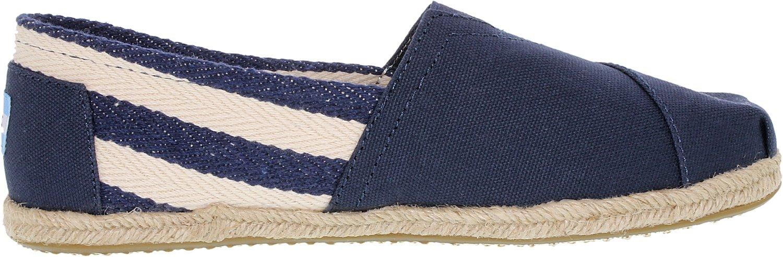 4d219dd592a Galleon - Toms Womens Classic Stripe University Slip On Casual Shoe ...