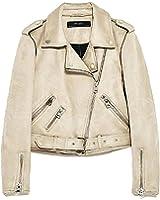 Bikifree Fashion Womens Casual Zip Splice Slim Suede Cool Coat Motorcycle jacket