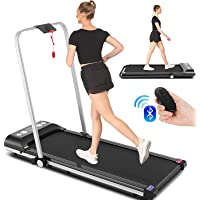 SYTIRY 2 in 1 Home Treadmill, 2HP Under Desk Treadmill, Installation-Free with Bluetooth Speaker, Remote Control and LED…