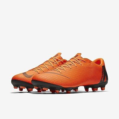 Nike Mercurial Vapor XII Academy MG, Chaussures de Football Homme, Noir (Black/Total Orange-W 081), 47 EU