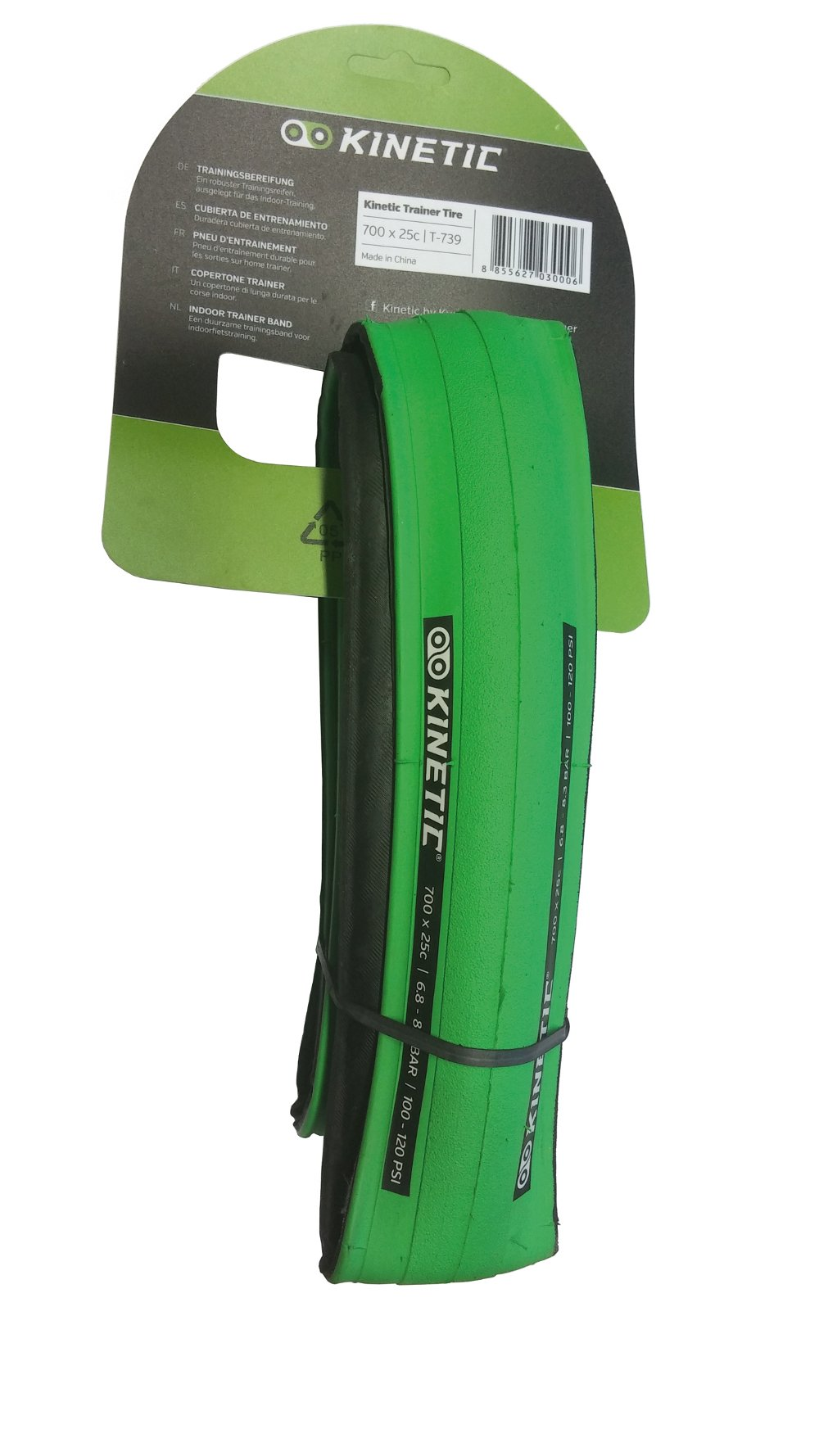 Kinetic by Kurt ATB Trainer Tire (26-Inch x 1-Inch, Black/Green)