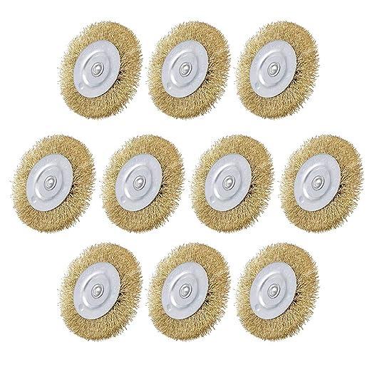 Uxcell banco de cepillo para rueda de alambre de 3 pulgadas ...