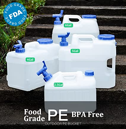 25 Gallon 4 5 6 Water Container BPA FREE FDA