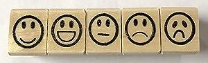 Smiley Face Rubber Stamp Set
