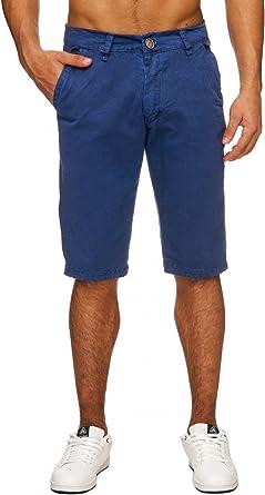 Pantalones cortos para hombre Chino Bermuda algodón puro H1743