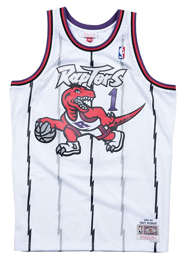 Amazon.com   Mitchell   Ness Tracy McGrady Toronto Raptors NBA Swingman 98-99  Jersey - White   Sports   Outdoors 735614578