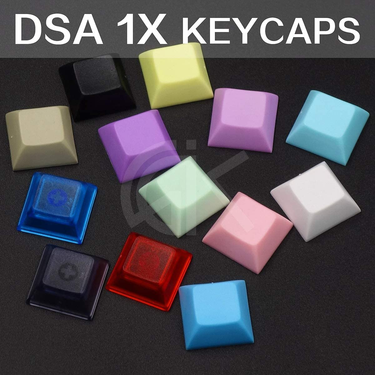 Colore : 10pcs Black Keyboard keycaps DSA 1x No Printed PBT Mechanical Keyboard Key Cap Cap Keycaps Nano Color Black White Gray